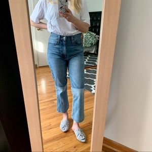 Madewell retro crop bootcut jeans sz 26
